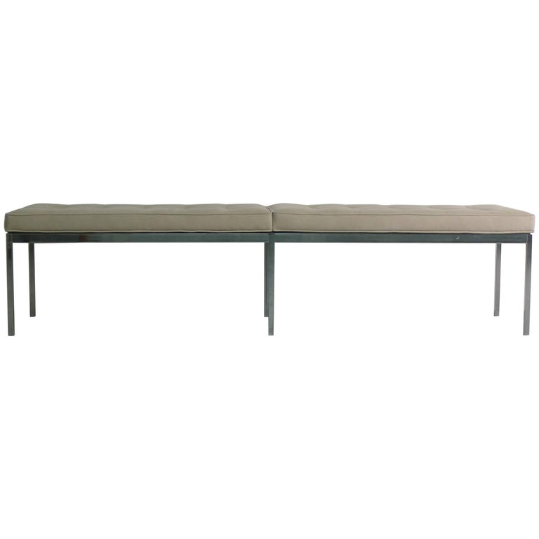 Florence Knoll for Knoll International, Upholstered Bench, 1960s For Sale