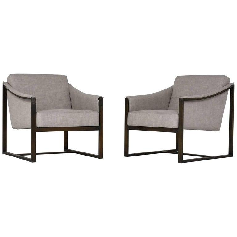 Pair of Milo Baughman Lounge Chairs