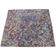 Quilt in Postage Stamp Pattern / 3000 Pieces