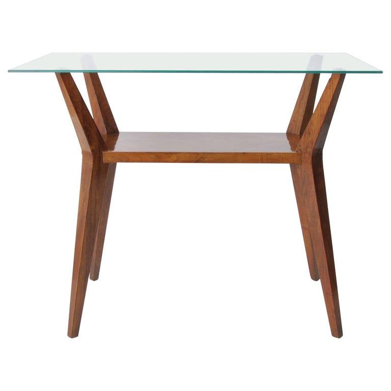 1950s Cesare Lacca, Coffee Table Walnut Mid-Century Modern