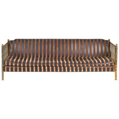 Brass Faux Bamboo Sofa by Mastercraft