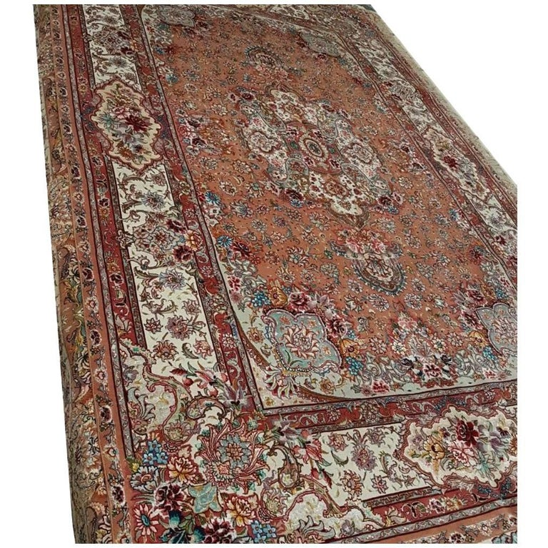 Salari Design Onion Color Hand-Knotted Genuine Persian Tabriz Rug