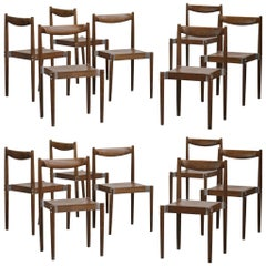 Set of 14 Design Chairs, Scandinavian, 1970s