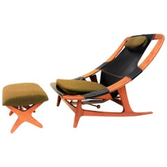 Vintage Lounge Chair with Footstool by Arne Tidemand-Ruud for Norcraft Norway