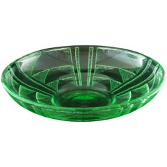 Art Deco Daum Acid Etched Bowl