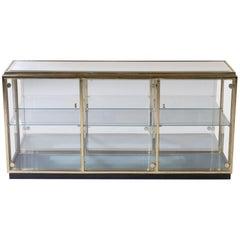 Regency Brass Mirrored Display Case