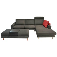 """Sofa """"Classics 500"""" by Manufacturer Erpo in Wood, Metal and Fabrica"""