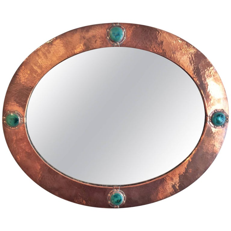 Liberty and Co Arts & Crafts Movement Copper-Framed Mirror