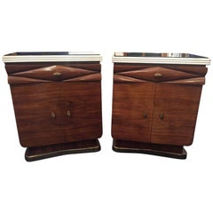 Dassi Rosewood Night Tables, Lissone, Italy, 1950s