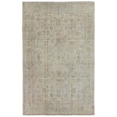 Muted Turkish Vintage Rug with Beautiful, Intricate Floral Design