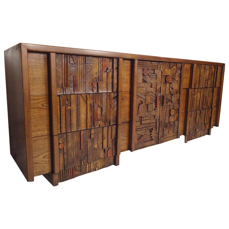 Mid-Century Modern Brutalist Dresser