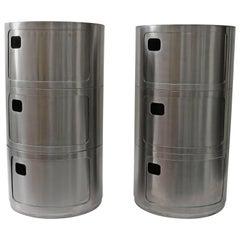 Pair of Prototype Kartell Side Tables in Stainless Steel