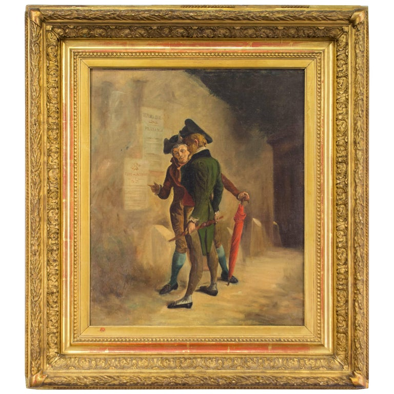 18th Century French Revolution Painting For Sale at 1stdibs