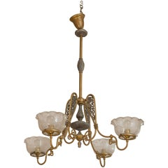 Four-Arm Gas Chandelier
