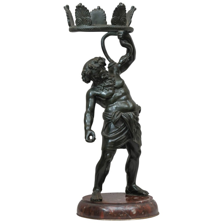 Bronze Figure of Drunken Silenius, Souvenir of the Grand Tour For Sale