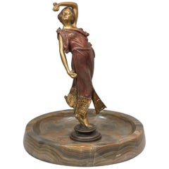 Austrian Naughty, Movable Bronze of a Maiden with Removable Dress