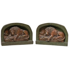 Pair Of Egyptian Revival Sphinx Bookends At 1stdibs