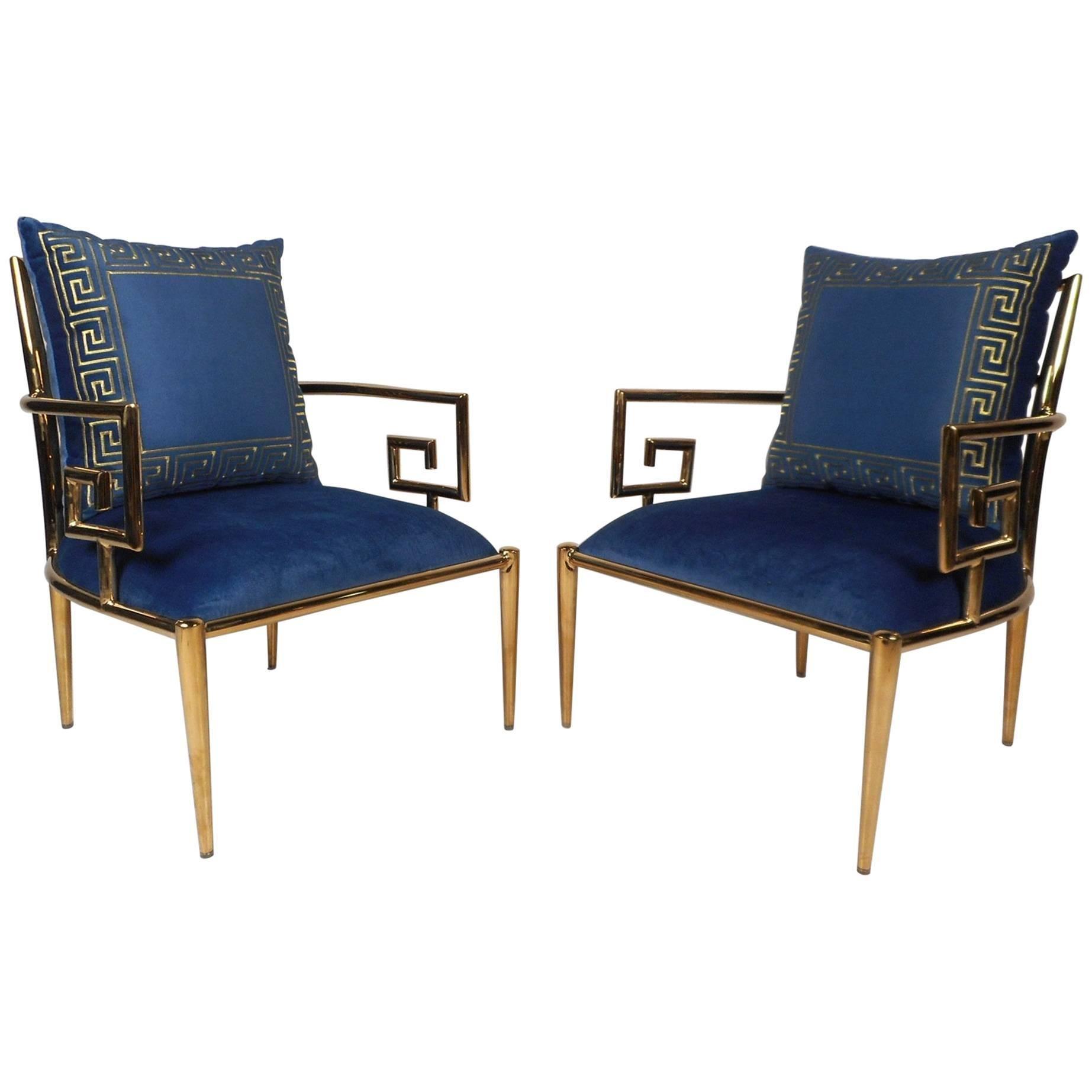 Elegant Pair of Mid-Century Modern Lounge Chairs