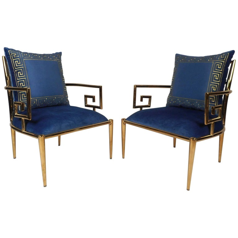 Elegant Pair of Mid-Century Modern Lounge Chairs