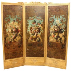 Late 19th Century Régence Style Folding Screen