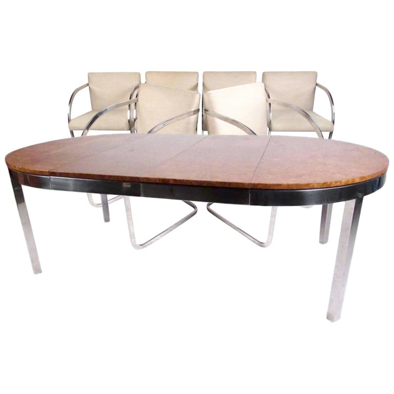 Mid-Century Dining Set in the Style of Milo Baughman