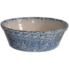 Spongeware 19th Century Cook Ware Bowl