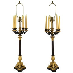 Pair of Candelabra Table Lamps