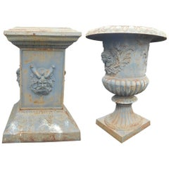 Enormous Cast Iron Stacking Urns