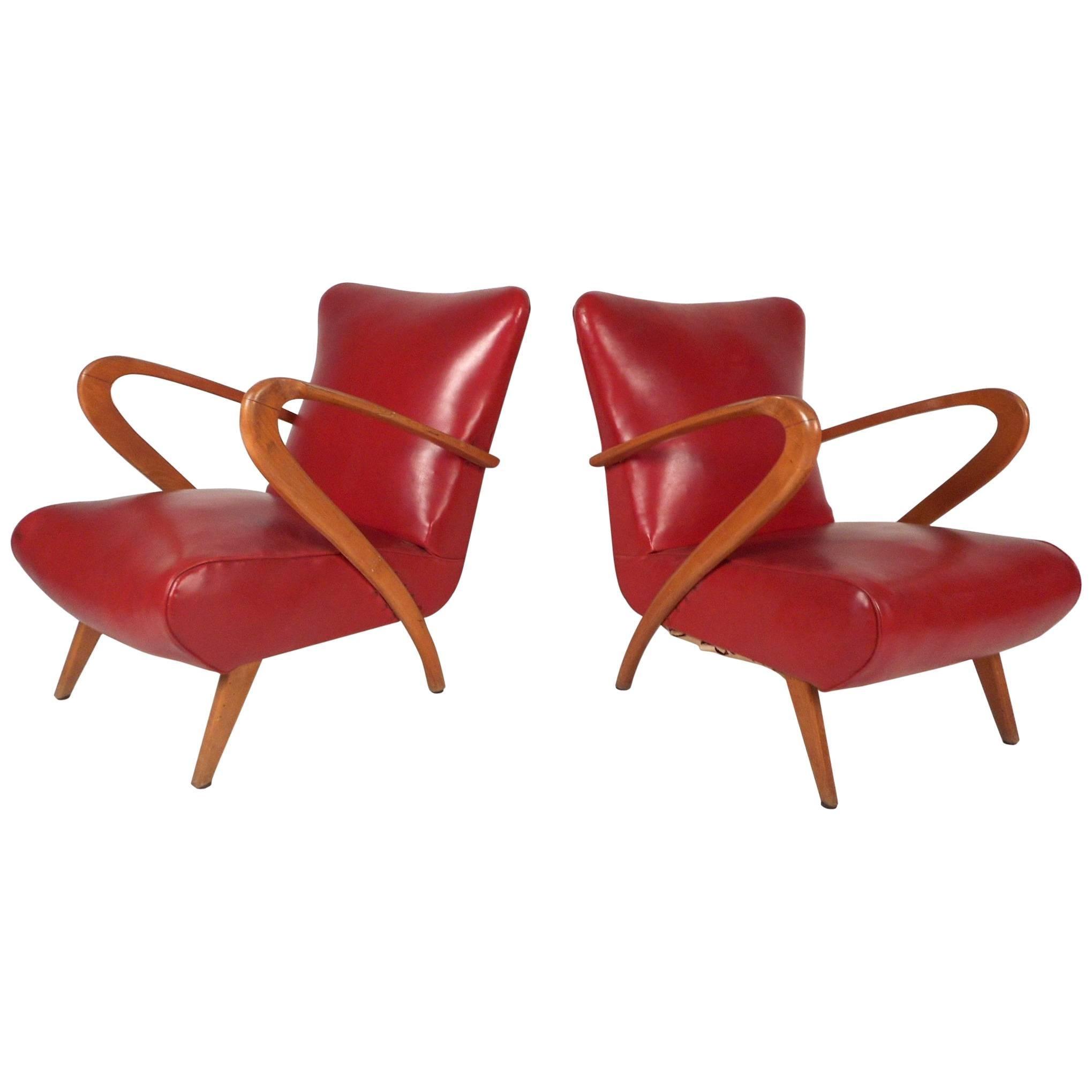 Pair of Mid-Century Modern Italian Lounge Chairs by Paolo Buffa