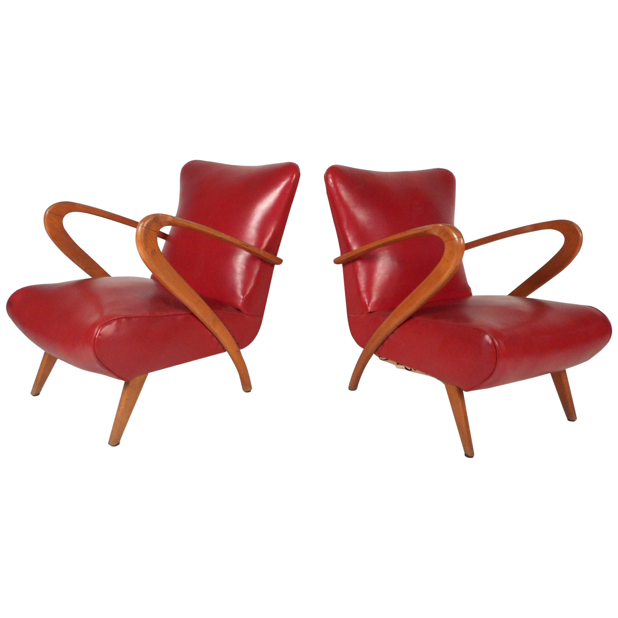 Pair of Mid-Century Modern Italian Lounge Chairs by Paolo Buffa
