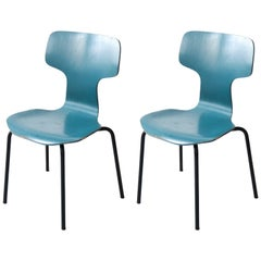 Pair of Model 3103 Chairs, Designed by Arne Jacobsen, Vintage, Denmark, 1955