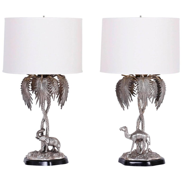Pair of vintage palm tree table lamps at 1stdibs pair of vintage palm tree table lamps for sale mozeypictures Images