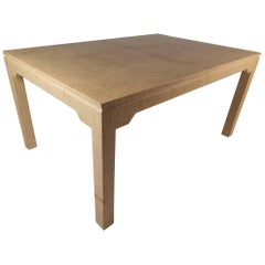 Mid-Century Modern Grass Cloth Dining Table by Karl Springer