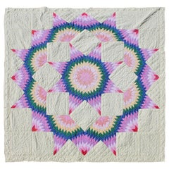 Broken Star Quilt in Pastel Colors