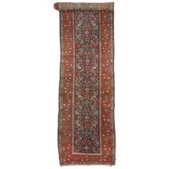 Antique Malayer Persian Runner with Modern Traditional Style