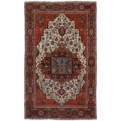 Antique Persian Sarouk Farahan Rug with Modern Style