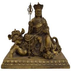Chinese Bronze Buddha or Quan Yin