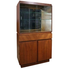 Architectural Modern China Cabinet by Morris of California Mid-Century Modern