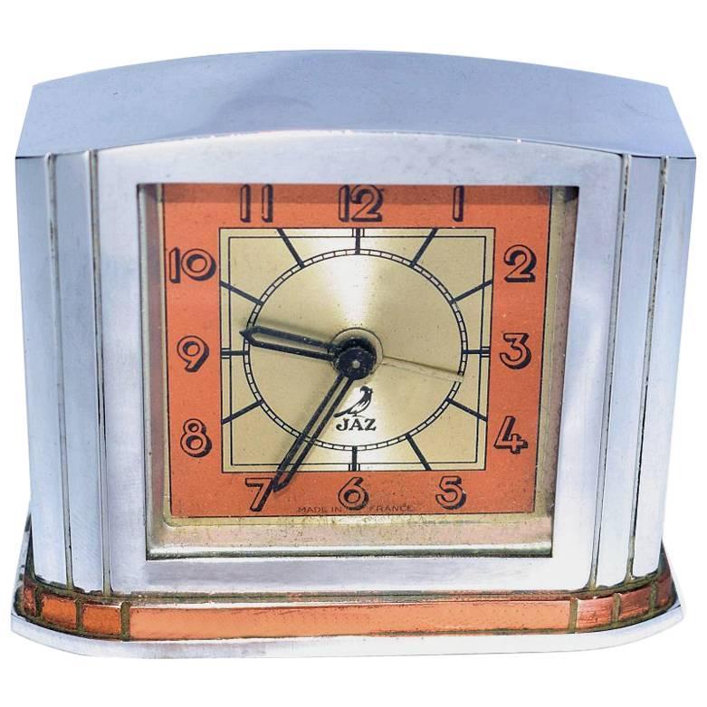French Art Deco Alarm Clock by JAZ