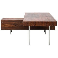 Big L-Shaped Desk with Sideboard Produced in Denmark