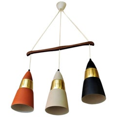Vintage Ceiling Lamp with Three Cone Shaped Shades 1970`s