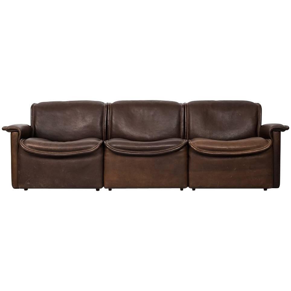 De Sede Three-Seat Sofa Model DS-12 by De Sede in Switzerland