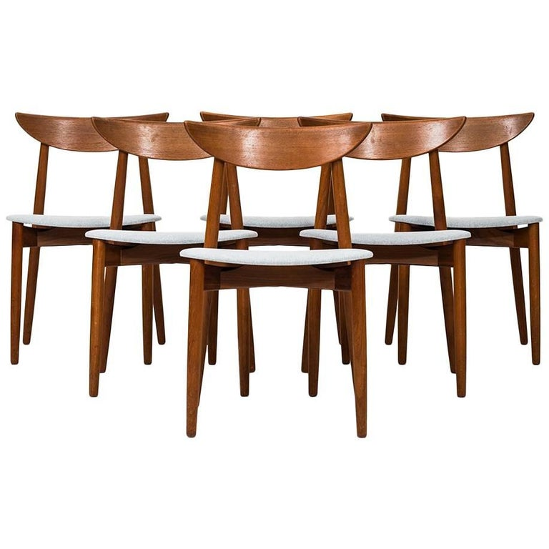 Harry Østergaard Dining Chairs by Randers Møbelfabrik in Denmark For Sale