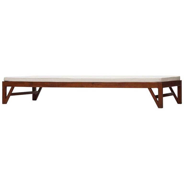 Daybed in Teak with V-Shaped Legs Produced in Denmark