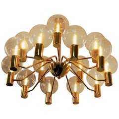 Patricia T372/15 Chandelier from 1960`s by Hans Agne Jakobsson, Markaryd Sweden