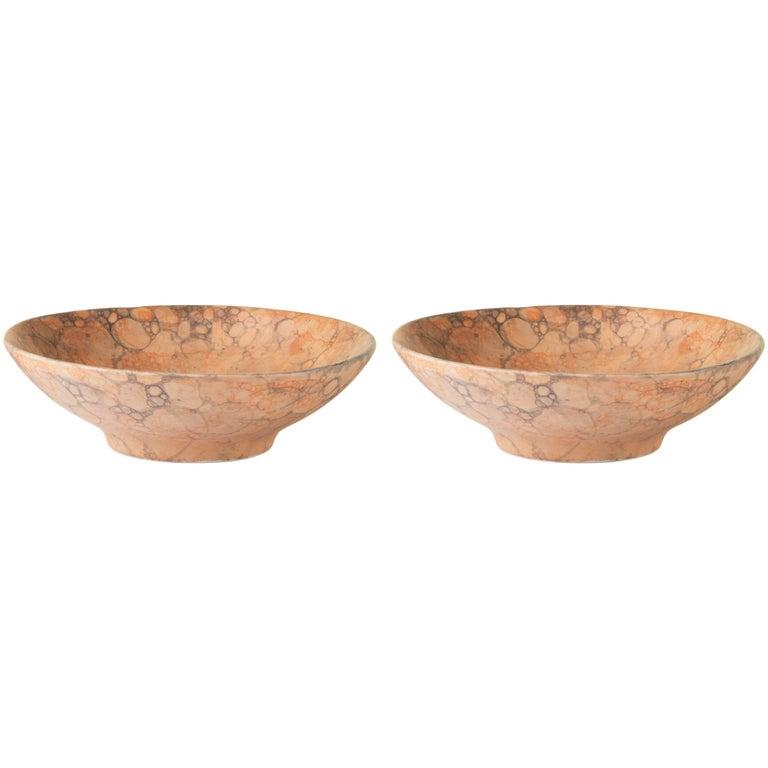 Orange Handmade Ceramic Mini Bowl, Set of Two 1