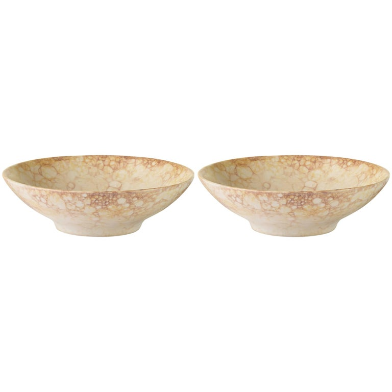 Yellow Handmade Ceramic Mini Bowl, Set of Two 1
