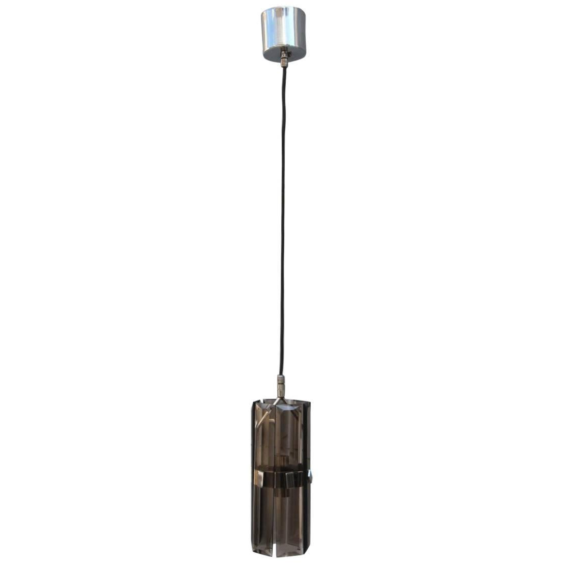 Essential and Minimal Italian Ceiling Light, 1970s Veca Design