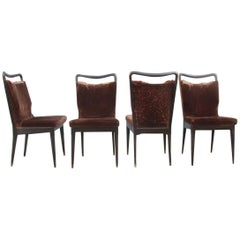 Rare and Original Chairs Isa Bergamo, Gio Ponti Attributed