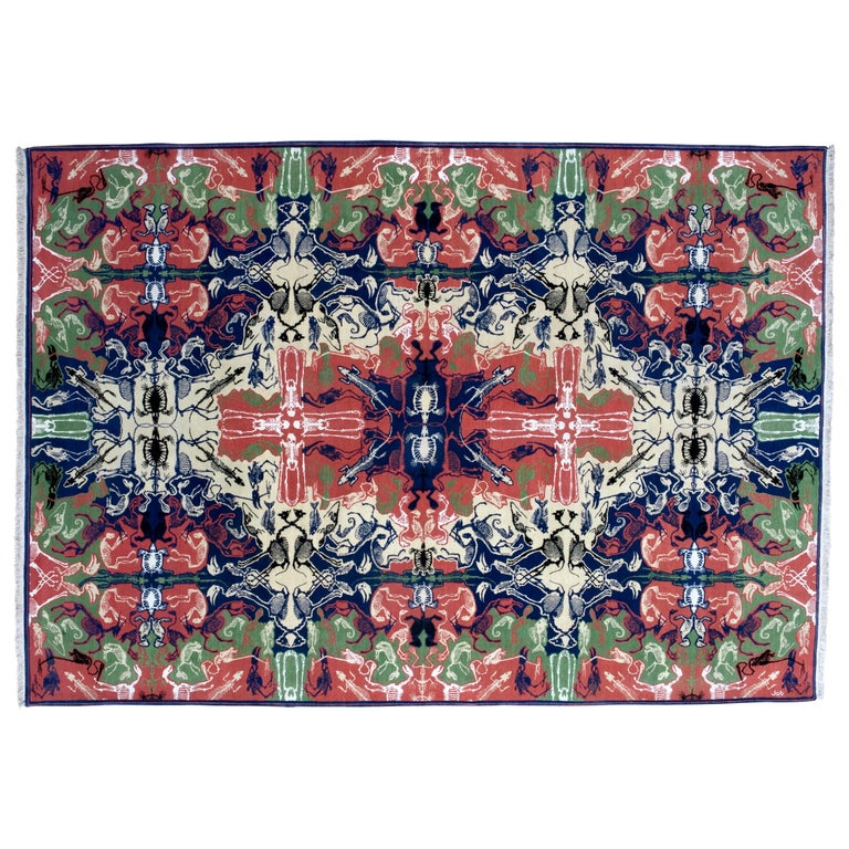Perished Persian, Hand-Knotted Rug Designed  for Nodus by Studio Job